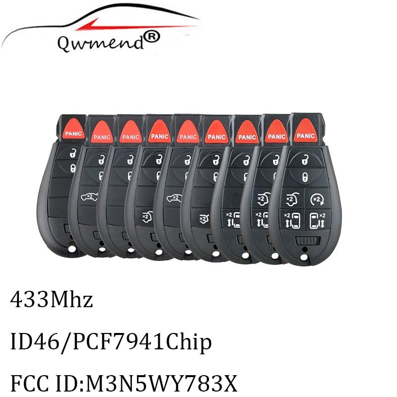 Смарт-ключ автомобильный QWMEND M3N5WY783X для Dodge 08-14 Grand Caravan 09-13, 433 МГц, чип PCF7941, лезвие Y160