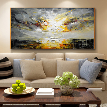 KOWELL 100% Handpainted Modern Abstract Oil Painting On Canvas Art Gift Home Decor Living Room Wall Art Frameless Picture
