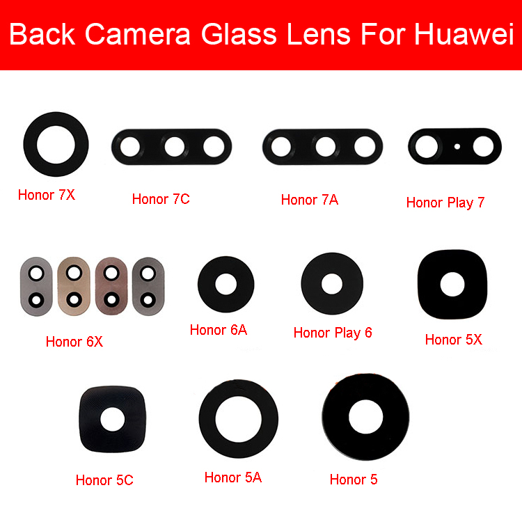 Back Rear Camera Glass Lens For Huawei Honor 5A 5C 5X 6A 6X 7A 7C 7X Honor Play 6 7 Camera Glass Lens Cover With Adhesive Glue