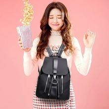 2020 Women Leather Backpacks Vintage Female Shoulder Bag  Travel Ladies Bagpack Mochilas School Bags For Girls Preppy