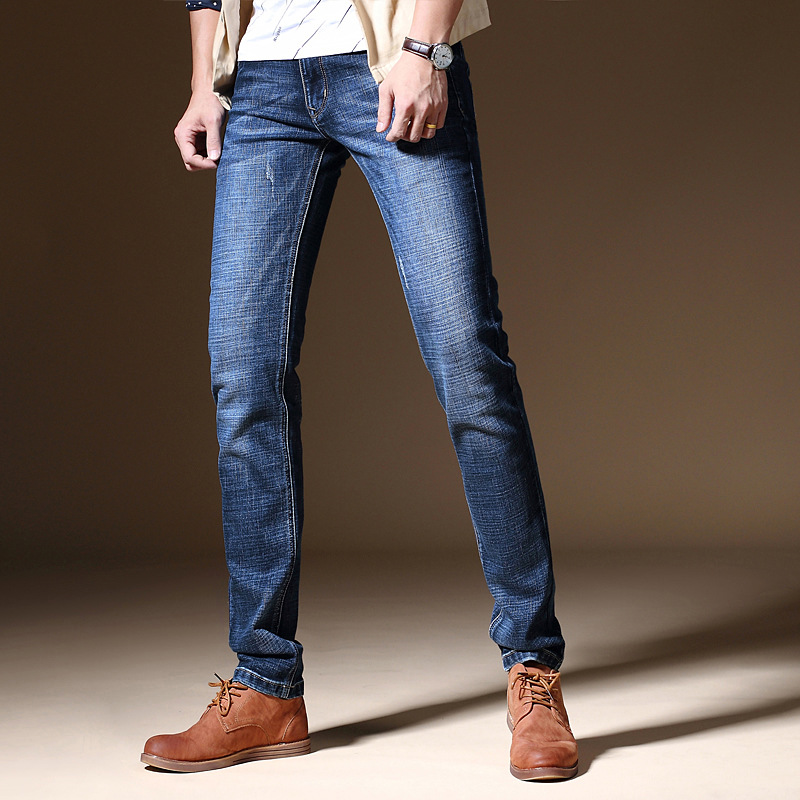2019 Spring Summer New Style MEN'S Jeans Elasticity Casual Men's Pencil Pants Jeans MEN'S Trousers