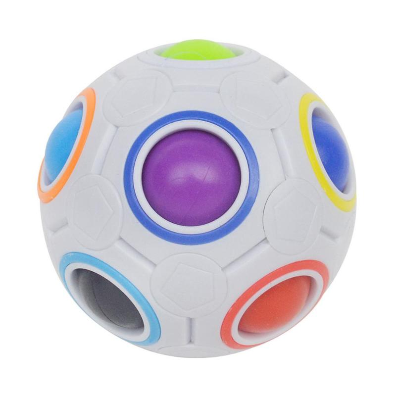 Mini Magic Rainbow Football Puzzle Ball Educational Learning Funny Fidget Toys Skillful Design And Exquisite Appearance