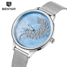 BENYAR Women Watches Top Brand Luxury Quartz Fashion Gold Watch Women Ladies Watches Hand Clock Relojes Mujer 2019 Marca Famosa цена 2017