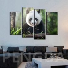 Modern Prints Art Canvas Home Decoration Wild Cute Animal Panda Painting Wall Poster Modular Scenery Pictures Baby Room For Gift