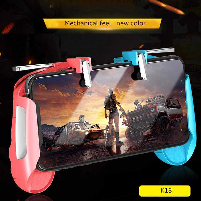 K18 PUBG мобильный игровой контроллер для Xiaomi IPhone samsung Android IOS телефонный джойстик игровой контроллер L1 R1 Бесплатный пожарный джойстик