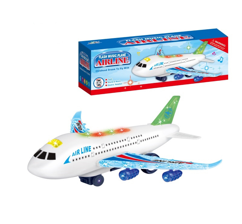 Large Size Universal Wheel Airplane Model Passenger Plane Light Included Light Music Toy Children Boy Electric Toys