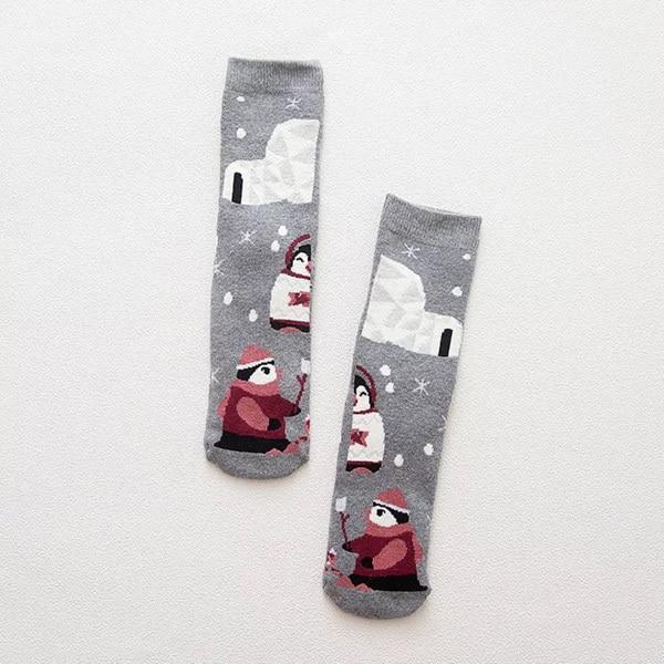Women Warm Cotton Socks Lovely Animal Pattern Cartoon Thick Adult Mid-calf