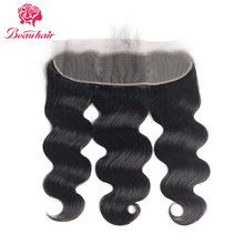 Swiss Lace Brazilian Body Wave Frontal Closure With Baby Hair 100% Non Remy Human Hair 13x4 Ear To Ear Lace Frontal Closure