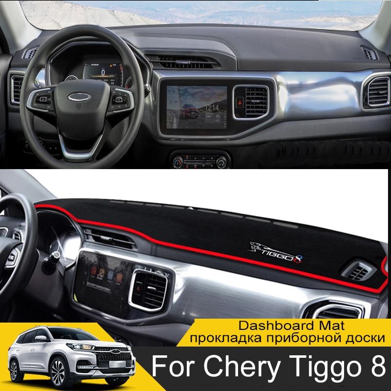 For Chery Tiggo 8 2018 2019 2020 2021 Anti-Slip Mat Dashboard Dash Cover Pad Sunshade Dashmat Interior Decoration Accessories