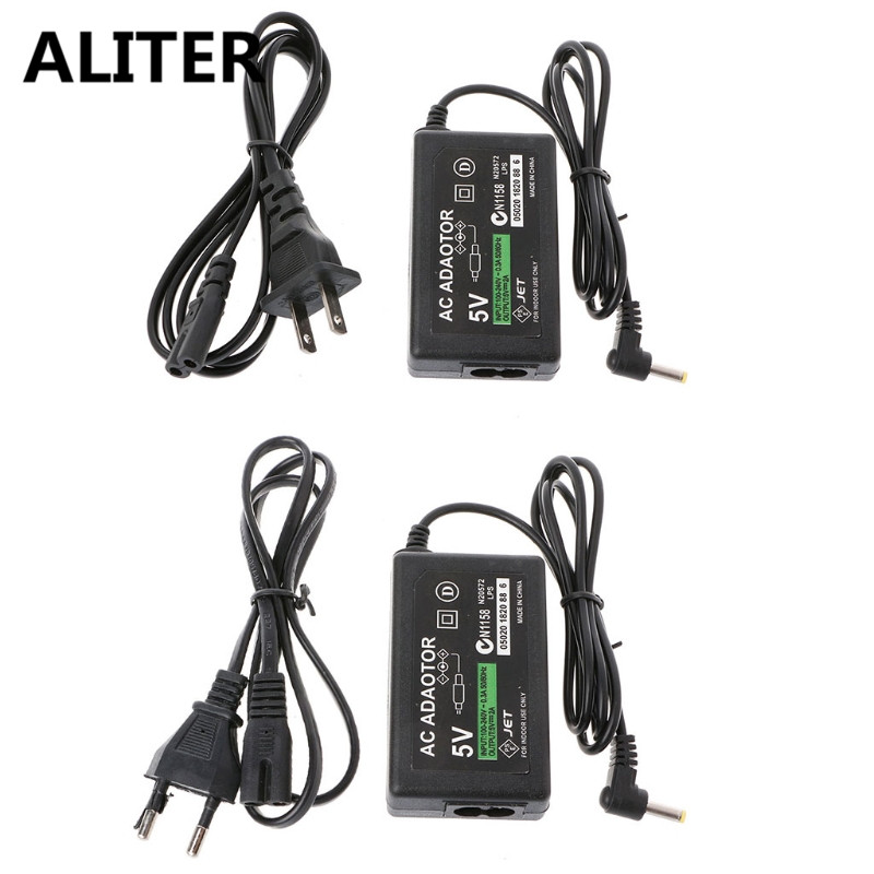 ALITER Wall Charger <font><b>AC</b></font> Adapter <font><b>Power</b></font> Supply <font><b>Cable</b></font> For PSP 1000 2000 3000 <font><b>EU</b></font>/US Plug image
