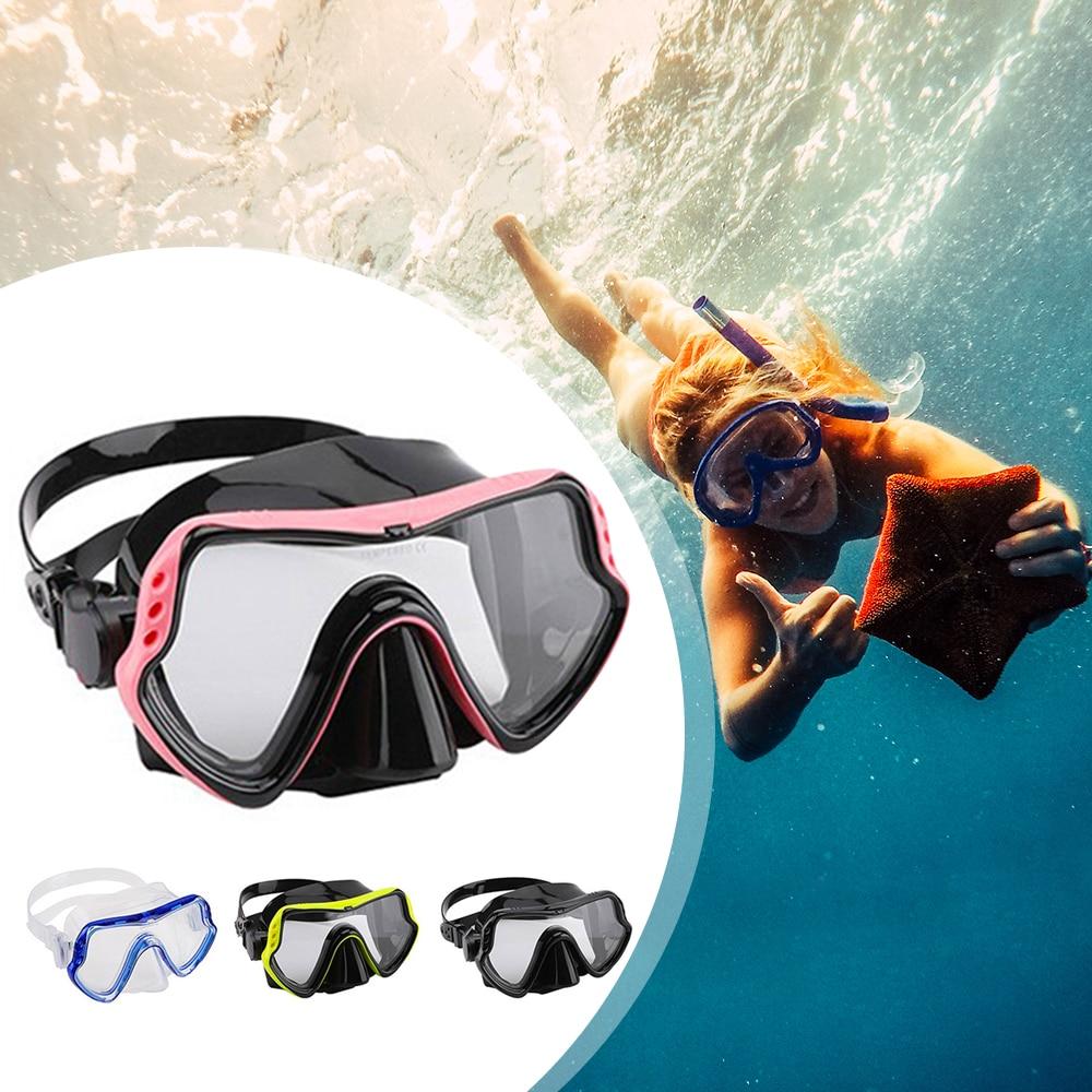 Face Snorkeling Mask Diving Swimming Mask Underwater Anti Fog Snorkel Mask Face Scuba Diving Equipment Women Men Kids