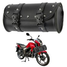 Universal Motorcycle Bag Synthetic Leather Black Round Fork For