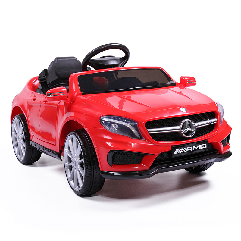 12V Powered Kids Ride On Car With Remote Control Mercedes Benz Licensed Children Four-Wheel Driving Rechargeable Car Toys T0817