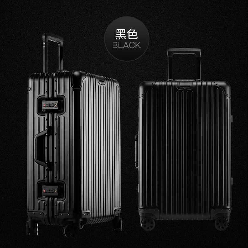 """Piaoruxu 20 """"24"""" 26 """"29"""" дюймов 100% Алюминиевый Дорожный чемодан тележка для ручного багажа с колесом"""