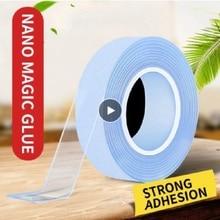 Storage Sticker Magic for Home Fixed-Nano Seamless Double-Sided-Tape Transparent Non-Slip