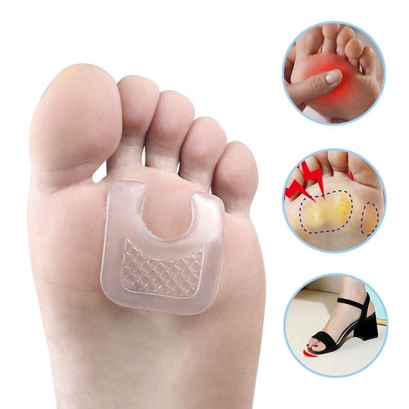 Podkładki żelowe w kształcie litery U kalus kukurydza ochraniacz na stopę naklejki anty tarcie wielokrotnego użytku poduszki Pad buty wkładki naklejki Toe paznokci korektor