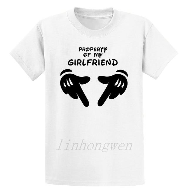 Propriété de ma petite amie t-shirt Vintage mignon confortable coton motif printemps taille sur la taille S-5XL chemise tricotée