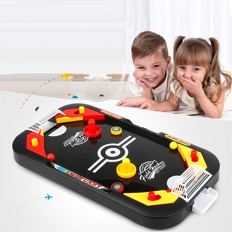 Hockey Game Tool 2 In 1 Ice Hockey Game Leisure Mini Air Hockey Table Children'S Educational Interesting Toys Puck Battle Table