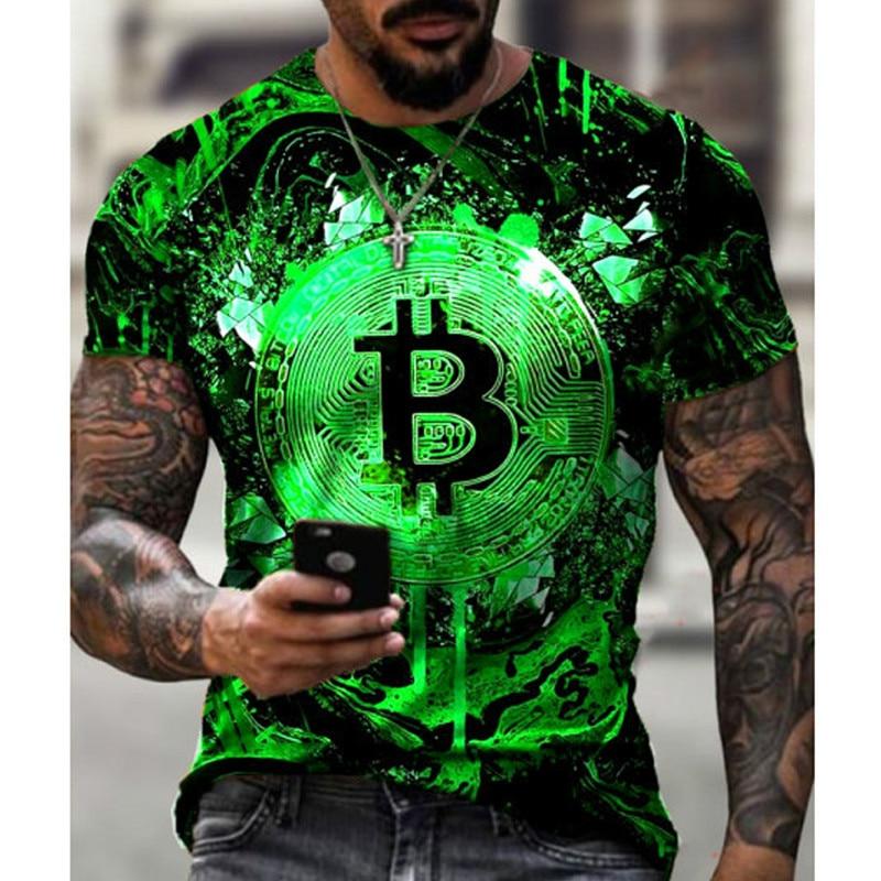 3D Men's T shirt Cool Colorful Printed Bitcoin O-neck Boys Tee Shirt Loose Graphic T-Shirt XS-6XL Plus Size Tshirt Casual Tops 1