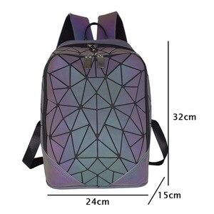 Image 2 - Fashion Women Backpack Mochila Geometric Luminous Backpacks Bagpack Girls Noctilucent Travel Shoulder Bags For School Back Pack