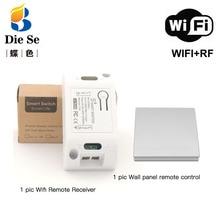 Módulos de automação inteligente rf wifi casa inteligente interruptor de luz e 86 painel parede transmissor sem fio