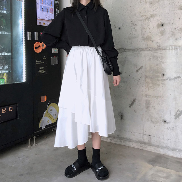 REALEFT 2020 Spring Women's Blouses Shirts Long Sleeve Turn-down Collar Korean OL Style Vintage Office Lady Black Ladies Tops 3