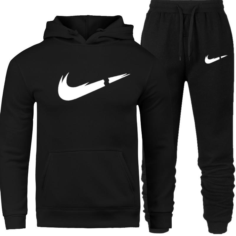 2019 Autumn Hoodie Sweater Jacket+ Joggers Sweatpants Man Printing Suits Sportwear Tracksuit Fight Color Off White Hoodie Men