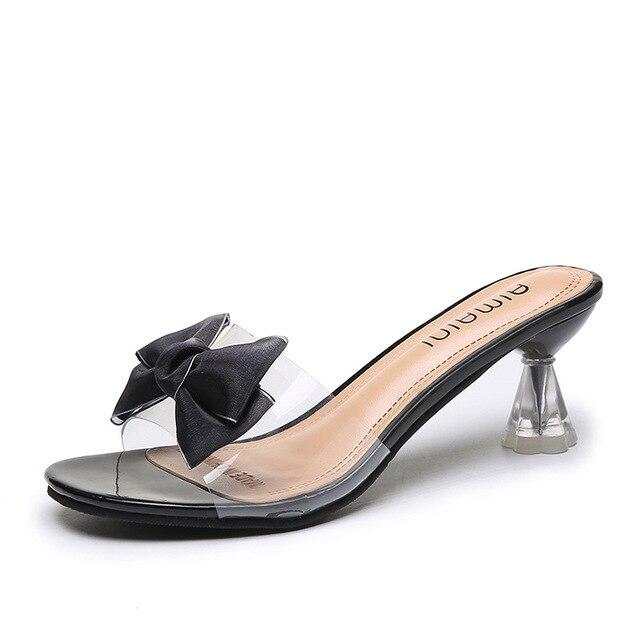 Femmes transparentes talons hauts sandales chaussures claires sexy talons hauts sandales
