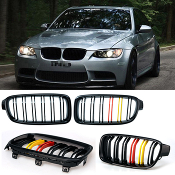 Car Front Kidney Grille Gloss Black/M Color Bumper Grille Grill Cover Car Racing Grill For BMW 3 Series F30 F35 2012 - 2016