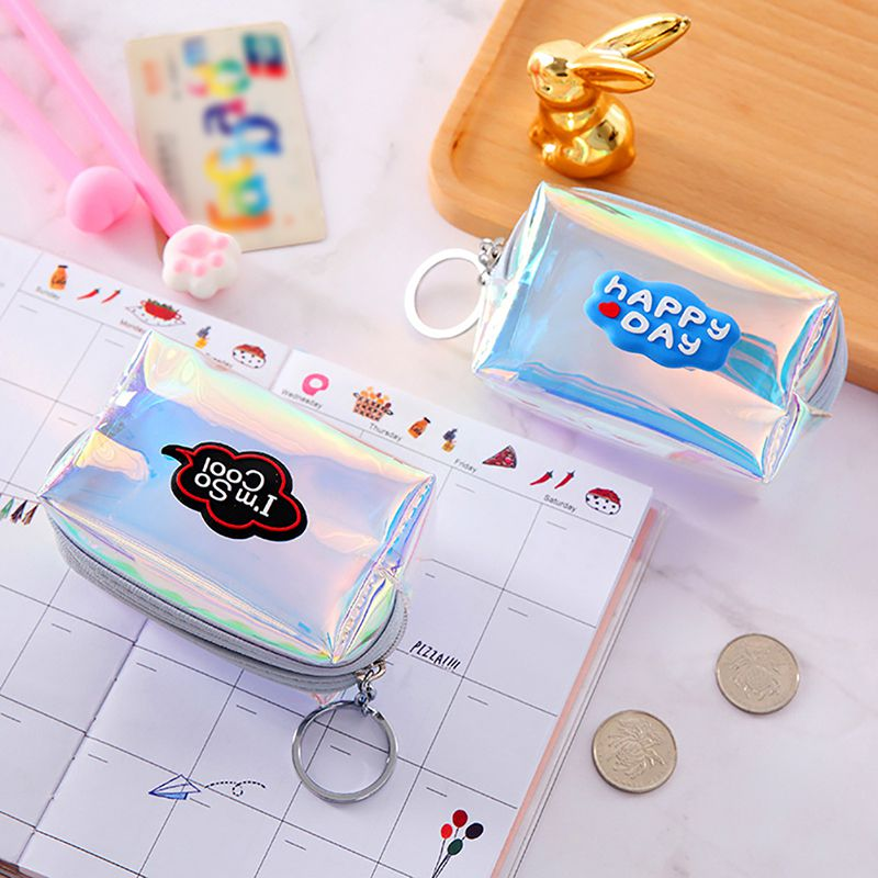 1PC Portable Womens Girls Kid Coin Wallet Colorful Lady Small Mini Coin Pouch Zipper Money Key Earphone Line Coin Holder Purse in Home Office Storage from Home Garden