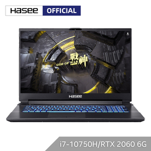 Hasee G8-CU7NK Laptop for Gaming (Intel Core I7-10750H+RTX 2060/16GB RAM/256G SSD+1T HDD/17.3''IPS144Hz 72%NTSC)Notbook computer