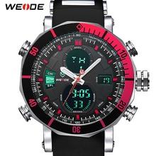 WEIDE Men Watch Chronograph Stopwatch Repeater Automatic Date Alarm Analog Quartz Digital Relogio Masculino Watch Mens Watches