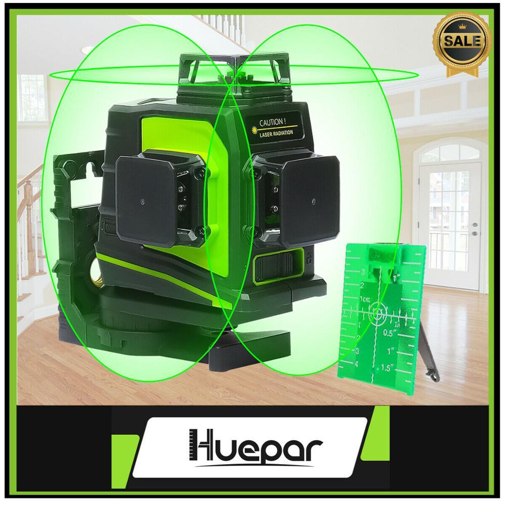 Huepar Laser-Level Cross-Line Horizontal-Cross Green Vertical 3D Red Usb-Charging
