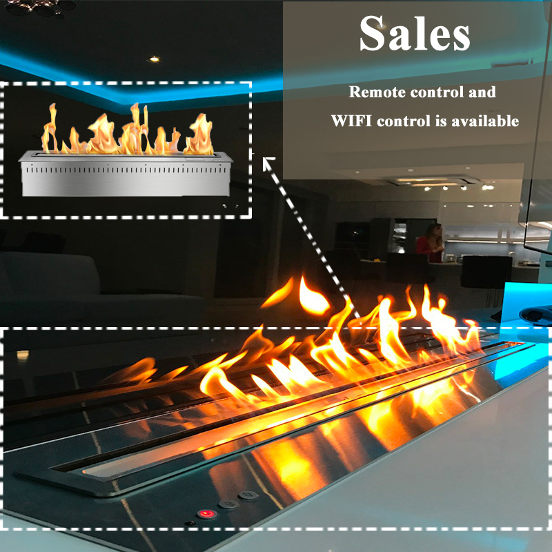 18 Inch Home Decoration Remote Control Smart Ethanol Fireplace