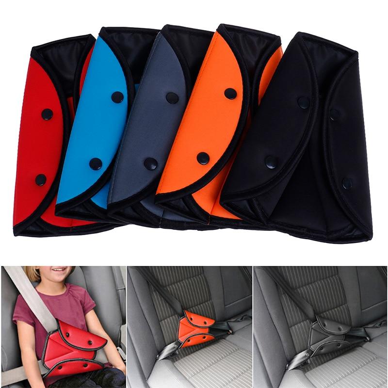 Car Safe Fit Seat Belt Sturdy Adjuster Car Safety Belt Adjust Device Baby Protection Stroller Baby Safety Triangular Regulator