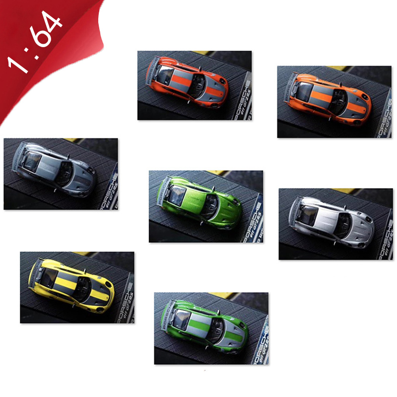 1:64 scale alloy diecast metal die-cast vehicle 911GT RS super sports car model adult child boy for toy collection gift display