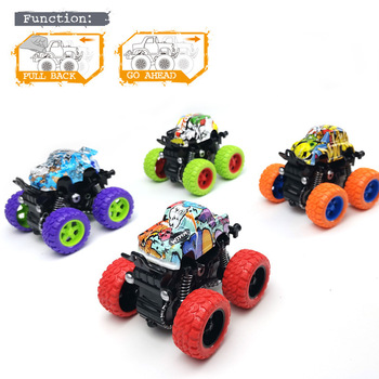 Inertia Four-Wheel-Drive off-Road Vehicle Children Simulation Model Car Anti-Shatterproof Toy Car Baby Car Model image