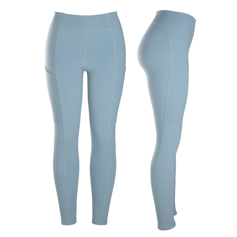 Autumn And Winter Yoga Pants Dress Elasticity Tight-Fit Running Quick-Dry High-waisted Fitness Pants Women's High-waisted Buttoc