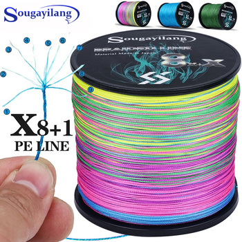 Sougayilang 9 Strands Super Strong PE Fishing Line 300M 500M 1000M  Abrasion Resistance Multifilament Pesca