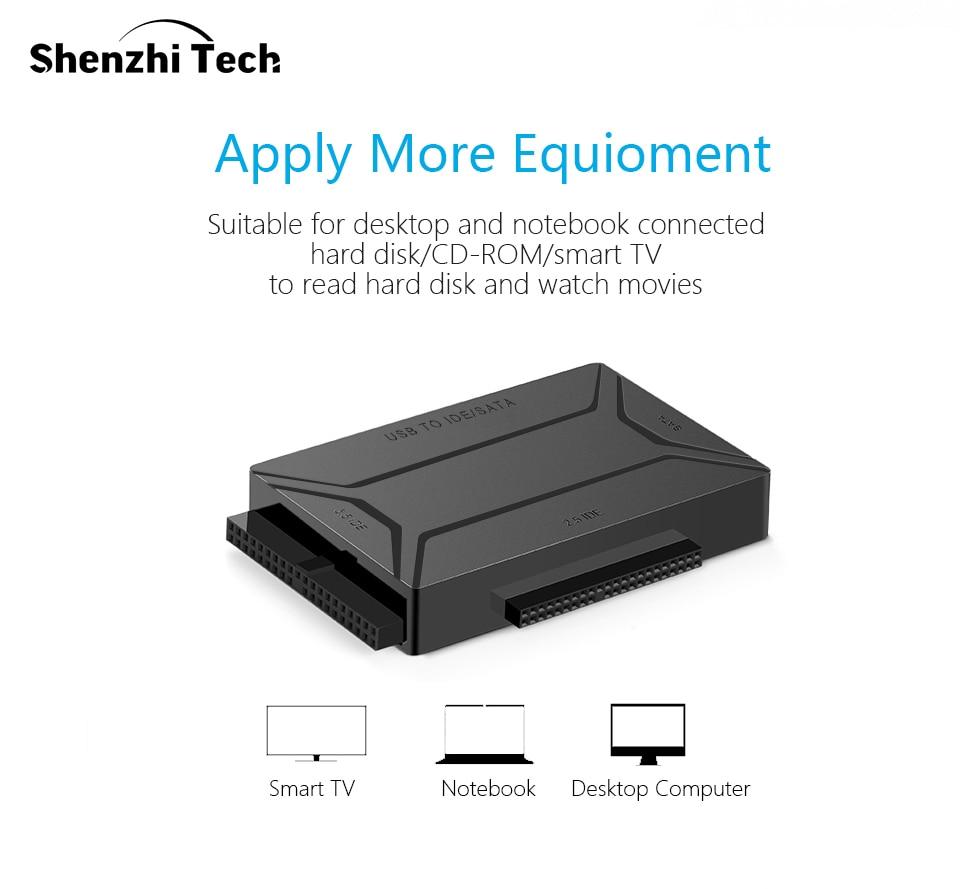 Image 2 - USB 3,0 на SATA IDE Внешний жесткий диск конвертер для 2,5 и 3,5 дюймов HDD SDD IDE адаптер (ЕС plug)