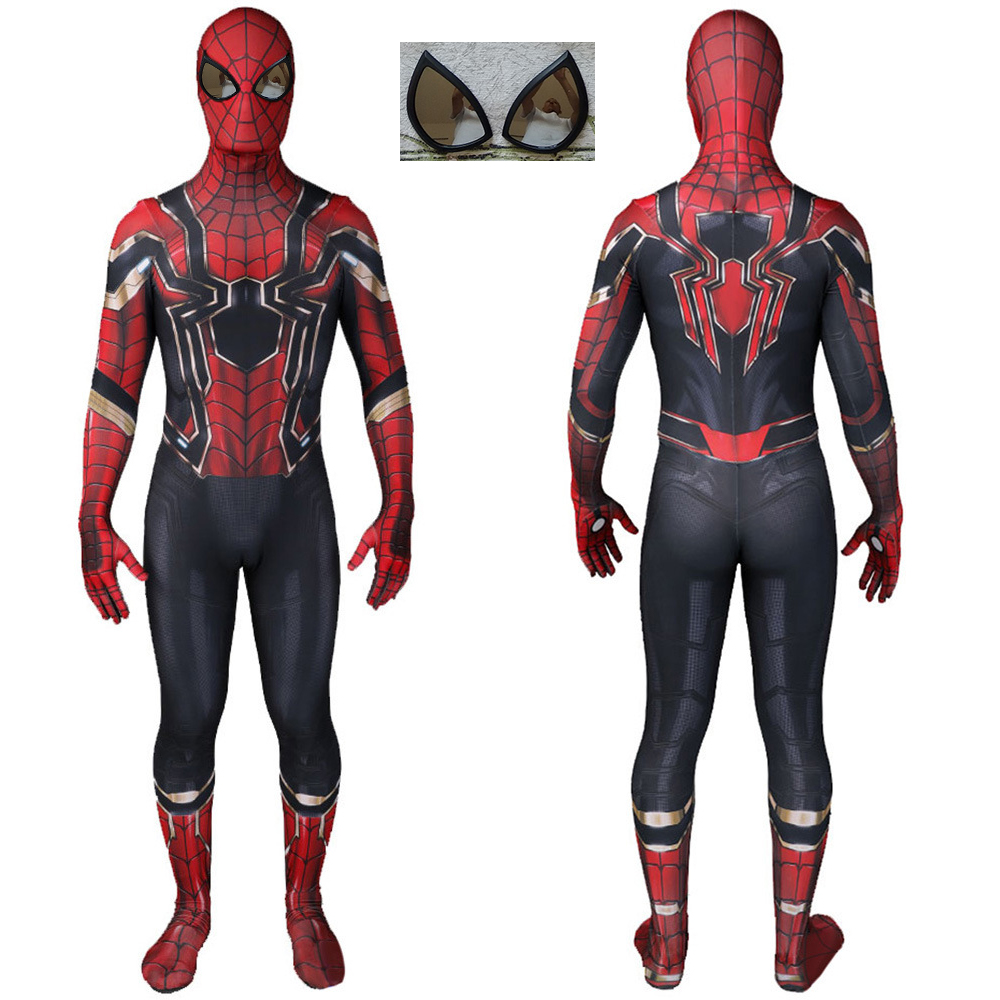 Movie Iron Man SpyBoy Costume Cosplay Sunglasses Lens 3D Printed Lycra Spandex Homecoming Halloween Costume Jumpsuits Bodysuit