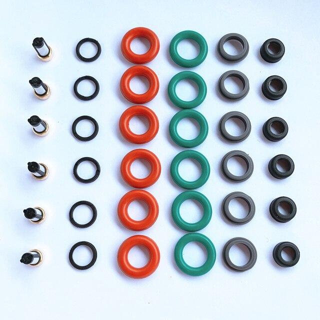 شحن مجاني 6 مجموعات حاقن وقود إصلاح أطقم لقطع غيار # 6G9N AB LR001982 30777501 85212259 لفولفو S80 / V70 / XC60 AY RK064