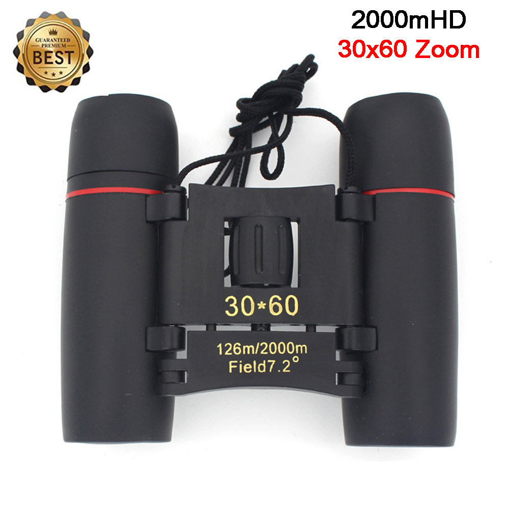Zoom Telescope Binoculars 30x60 Folding With Low Light Night Vision For Outdoor Bird Watching Travelling Hunting Camping 2000M