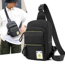 Waterproof Men Chest Bags Fashion Outdoor Nylon Male Crossbody Bag with Interface Fashion Sports Packs Anti-theft Shoulder Bag