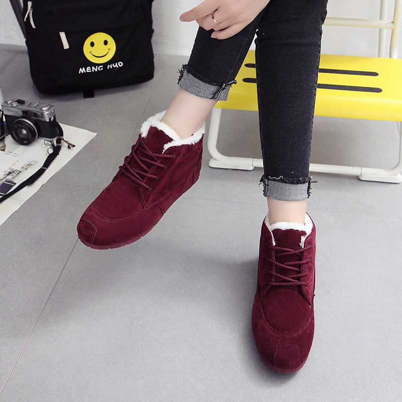 New 2019 snowshoe bread shoes, women's winter outdoor casual boots fashion cute warm suede ankle boots 21
