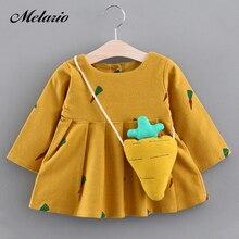 Melario Baby Dress Autumn Winter Baby Girls clothes Long Sle