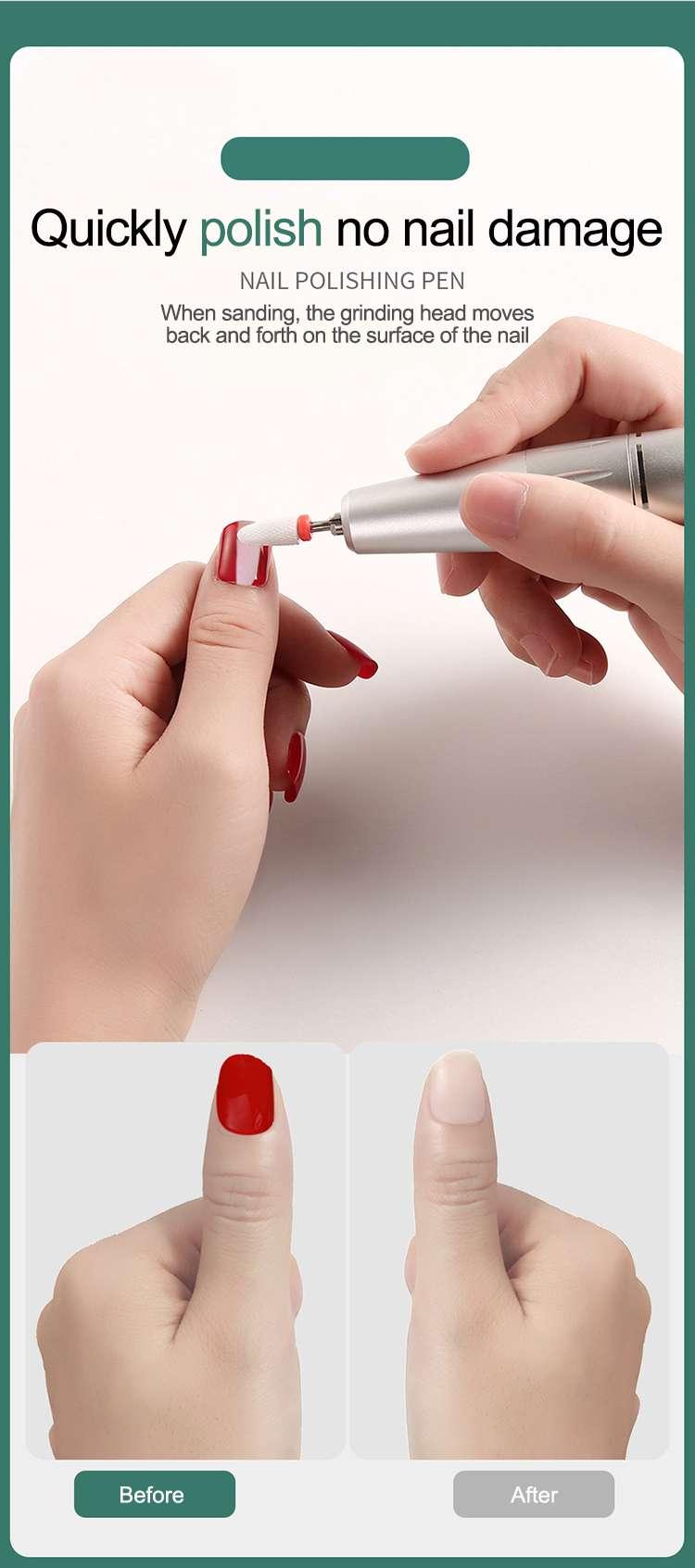 carregamento usb máquina de manicure 35000rpm moedor