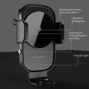 Image 3 - ワイヤレス車の充電器 15 ワットチー充電自動クランプセンサー空気ベント電話ホルダーiphone 11 xs xr × 8 サムスンS20 S10 S9