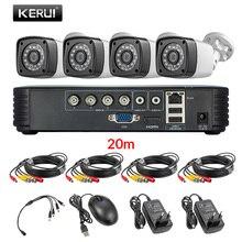 KERUI 4MP 屋外耐候 4CH DVR キット 5in1 AHD DVR CCTV システム 2/4 本セキュリティシステムカメラ日 /ナイトホームビデオカメラ