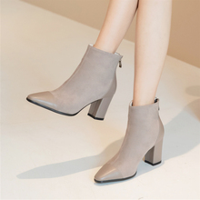 Plus Size 34-43 Fashion Mixed Colors Ankle Boots Footwear Arrival Women Boots Riding Feminine Shoes Women's High Heels Booties цены онлайн
